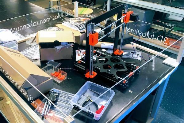 3D-tulostin rakennustyömaa